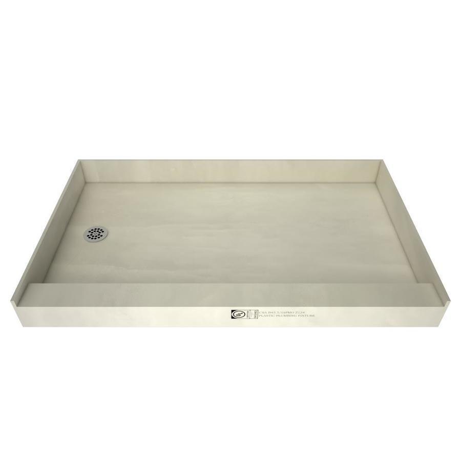 shop tile ready 60in l x 33in w redi base fiberglass shower base tile shower pan lowes