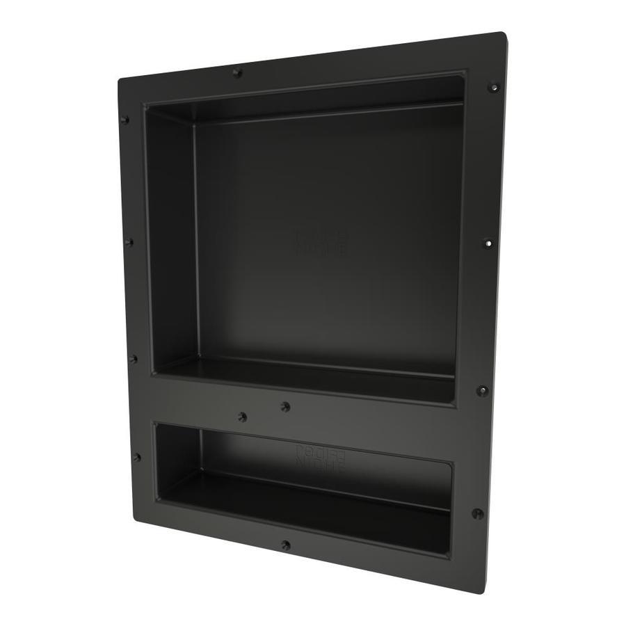 shop tile ready redi niche black made for tile shower. Black Bedroom Furniture Sets. Home Design Ideas
