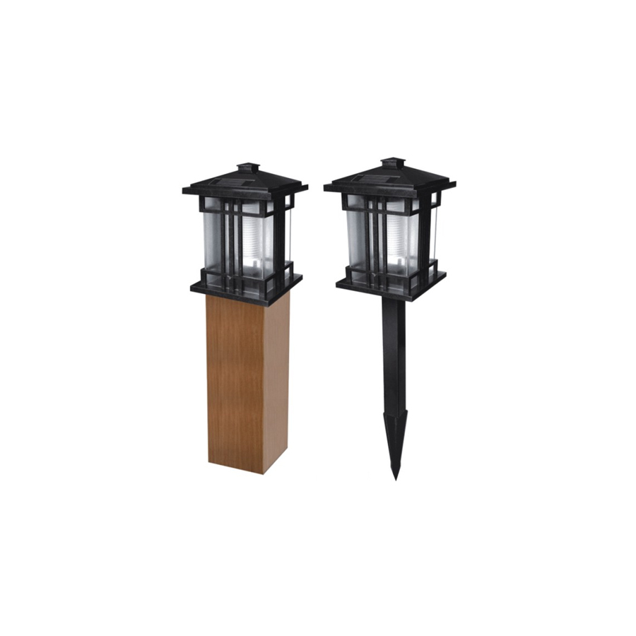 shop pine top sales black solar powered led path lights at. Black Bedroom Furniture Sets. Home Design Ideas