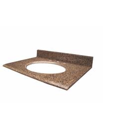 allen + roth Imperial Brown Quartz Undermount Single Sink Bathroom Vanity Top (Common: 31-in x 22-in; Actual: 31-in x 22-in)