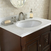 allen + roth Cinquefoil White Quartz Undermount Single Sink Bathroom Vanity Top (Common: 31-in x 22-in; Actual: 31-in x 22-in)