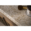 allen + roth Desert Gold Granite Undermount Double Sink Bathroom Vanity Top (Common: 61-in x 22-in; Actual: 61-in x 22-in)