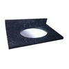 allen + roth 37-in W x 22-in D Blue Pearl Granite Single Sink Vanity Top