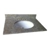 allen + roth Kashmir White Granite Undermount Single Sink Bathroom Vanity Top (Common: 37-in x 22-in; Actual: 37-in x 22-in)