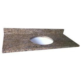 allen + roth Granite Undermount Single Sink Bathroom Vanity Top (Common: 31-in x 22-in; Actual: 31-in x 22-in)