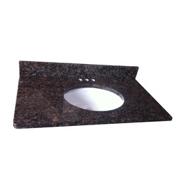 allen + roth Tan Brown Granite Undermount Single Sink Bathroom Vanity Top (Common: 37-in x 22-in; Actual: 37-in x 22-in)