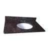 allen + roth Granite Undermount Single Sink Bathroom Vanity Top (Common: 37-in x 22-in; Actual: 37-in x 22-in)