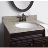 allen + roth Desert Gold Granite Undermount Single Sink Bathroom Vanity Top (Common: 31-in x 22-in; Actual: 31-in x 22-in)