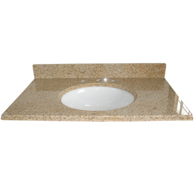 allen + roth Granite Undermount Single Sink Bathroom Vanity Top (Common: 49-in x 22-in; Actual: 49-in x 22-in)