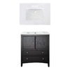allen + roth 31-in Dark Ebony Kingsland Single Sink Bathroom Vanity with Top