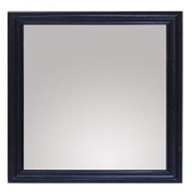 allen + roth Westerly 30-in H x 26-in W Black Rectangular Bathroom Mirror