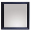 allen + roth 30-in H x 26-in W Westerly Black Rectangular Bathroom Mirror