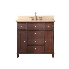 Avanity Windsor 37-in x 22-in Walnut 1 Bathroom Vanity