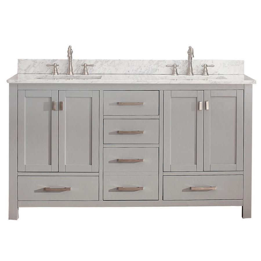Avanity Modero Chilled Gray Undermount Double Sink Bathroom Vanity
