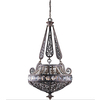 Orcus 28-in W Bronze Pendant Light with Crystal Shade