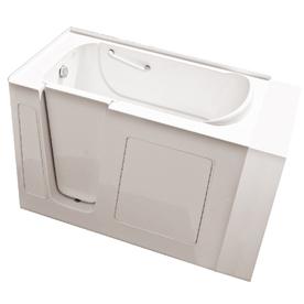 Endurance Gelcoat and Fiberglass Rectangular Walk-in Bathtub with Left-Hand Drain (Common: 30-in x 54-in; Actual: 38-in x 30-in x 53-in)