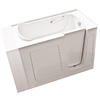 Endurance 53-in x 30-in Biscuit Rectangular Walk-In Bathtub with Right-Hand Drain