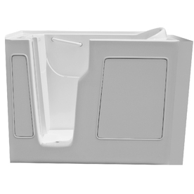 Endurance 52-in x 29-in White Rectangular Walk-In Bathtub with Left-Hand Drain
