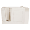 Endurance 53-in x 26-in Biscuit Rectangular Walk-In Bathtub with Left-Hand Drain