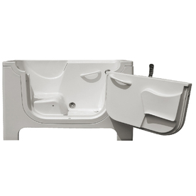 Endurance Gelcoat and Fiberglass Rectangular Walk-in Bathtub with Right-Hand Drain (Common: 30-in x 60-in; Actual: 42-in x 30-in x 60-in)