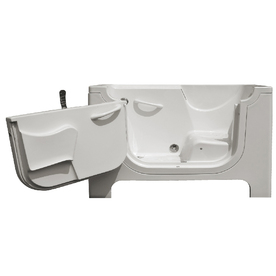 Endurance Gelcoat and Fiberglass Rectangular Walk-in Bathtub with Left-Hand Drain (Common: 30-in x 60-in; Actual: 42-in x 30-in x 60-in)