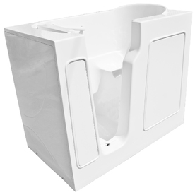 Endurance Gelcoat and Fiberglass Rectangular Walk-in Bathtub with Left-Hand Drain (Common: 26-in x 46-in; Actual: 38-in x 26-in x 46-in)