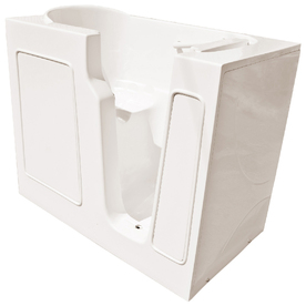 Endurance Gelcoat and Fiberglass Rectangular Walk-in Bathtub with Right-Hand Drain (Common: 26-in x 46-in; Actual: 38-in x 26-in x 46-in)