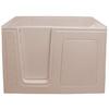 Endurance 54-in x 30-in Biscuit Rectangular Walk-In Bathtub with Left-Hand Drain