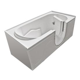 Endurance 60-in x 30-in White Rectangular Walk-In Bathtub with Right-Hand Drain