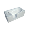 Endurance 60-in x 30-in White Rectangular Walk-In Bathtub with Left-Hand Drain