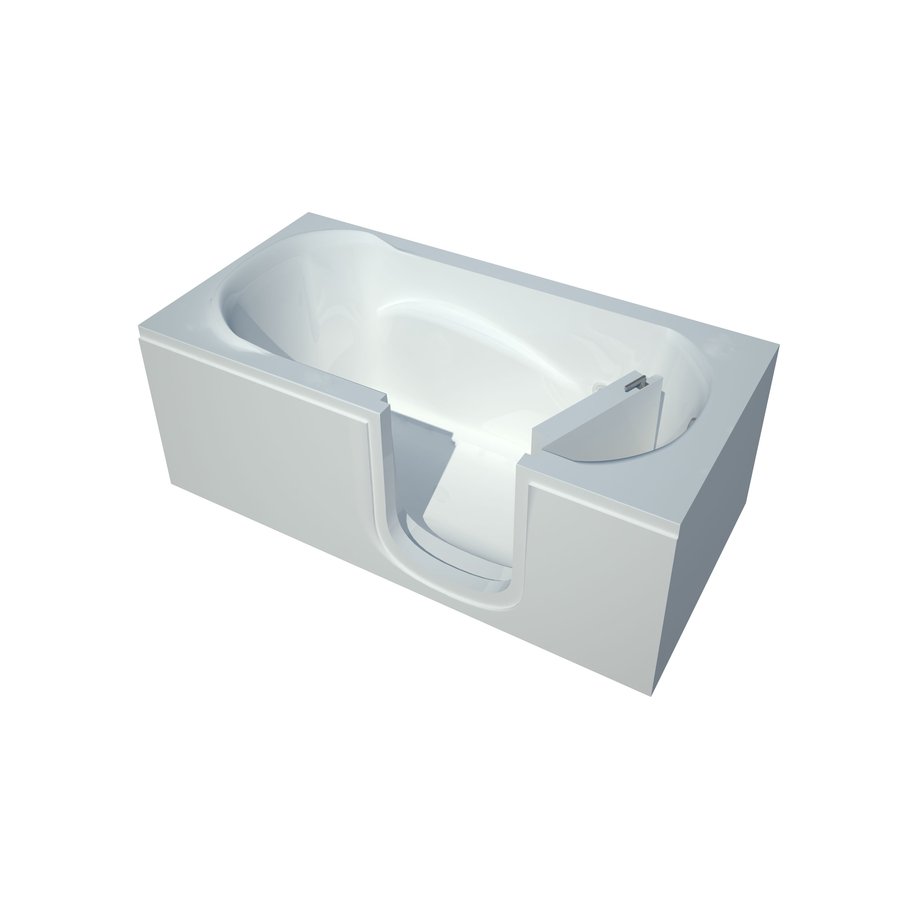Shop Endurance White Acrylic Rectangular Walk In Bathtub With Right Hand Drai