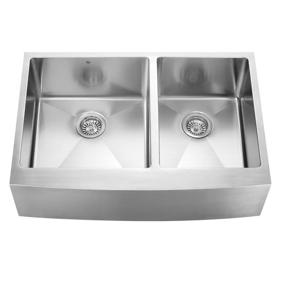 Lowes Farmhouse Sink : ... Basin Apron Front/Farmhouse Stainless Steel Kitchen Sink at Lowes.com