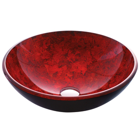 VIGO 6-in D Glass Round Vessel Sink