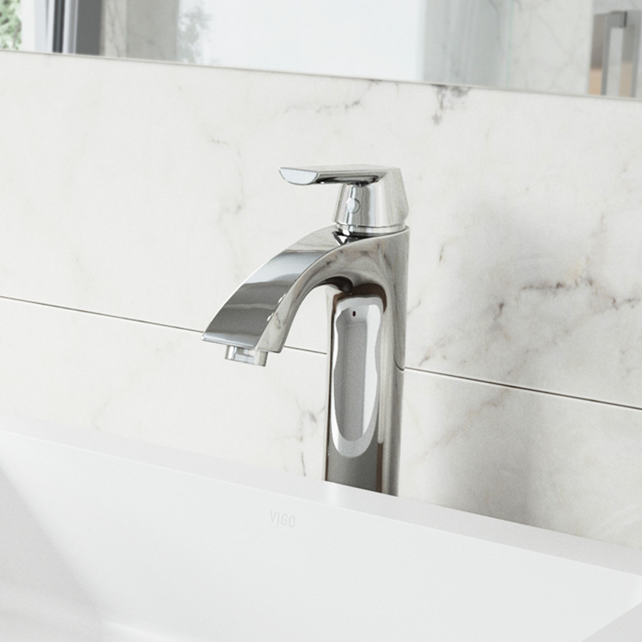 Shop VIGO Chrome 1 Handle Single Hole WaterSense Bathroom Sink Faucet At Lowe