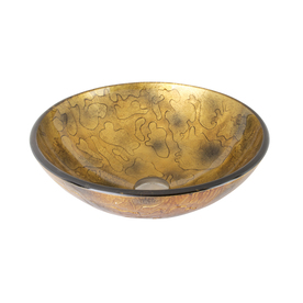 Display Product Reviews For Brown And Gold Glass Vessel Round Bathroom Sink