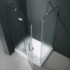 VIGO Frameless Showers Chrome Walls Not Included Square 3-Piece Corner Shower Kit (Actual: 79.25-in x 48.125-in x 48.125-in)