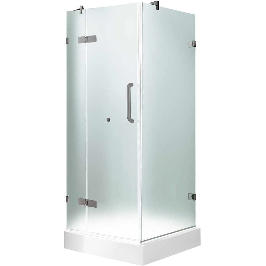 Shop VIGO Frameless Showers Brushed Nickel Walls Not Included Square 3 Piece