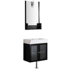 VIGO Wenge Integral Single Sink Bathroom Vanity with Cultured Marble Top (Common: 25-in x 15-in; Actual: 25.5-in x 17.75-in)