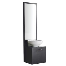 VIGO 18-1/4&#034; Wenge Bath Vanity with Top