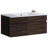 VIGO Ebony Integral Single Sink Bathroom Vanity with Vitreous China Top (Common: 34-in x 18-in; Actual: 35.75-in x 18.125-in)