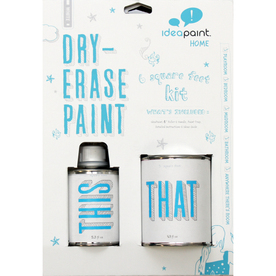 IdeaPaint 8-5/16 Oz. White Interior High-Gloss Dry-Erase Paint (Covers 6 Sq. Ft.)