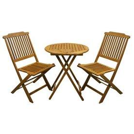 shop outdoor interiors 3 piece patio bistro set at