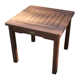 "Outdoor Interiors 19-3/4"" x 19-3/4"" Brown Wood Square Patio Side Table"