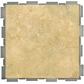 SnapStone 12-Pack Interlocking Nutmeg Glazed Porcelain Floor Tile (Common: 6-in x 6-in; Actual: 6-in x 6-in)