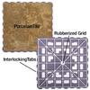 SnapStone 5-Pack Interlocking Camel Glazed Porcelain Floor Tile (Common: 12-in x 12-in; Actual: 12-in x 12-in)