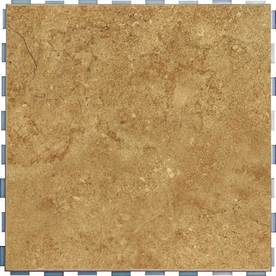 Shop SnapStone 5 Pack Interlocking Mocha Glazed Porcelain Floor Tile