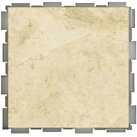 SnapStone Interlocking 12-Pack Beige Porcelain Floor Tile (Common: 6-in x 6-in; Actual: 6-in x 6-in)