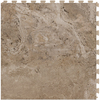 Perfection Floor Tile LVT 6-Piece 20-in x 20-in Beige Floating Travertine Luxury Vinyl Tile