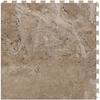 Perfection Floor Tile LVT 6-Piece 20-in x 20-in Beige Floating Travertine Luxury Vinyl Tile