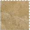 Perfection Floor Tile LVT 6-Piece 20-in x 20-in Camel Floating Travertine Luxury Vinyl Tile